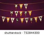 carnival for holiday with flags ... | Shutterstock .eps vector #732844300