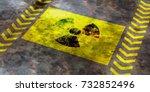 Radiation Symbol On Yellow...