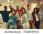 young people showing team spirit | Shutterstock . vector #732855910
