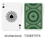 ace of spades face with spades... | Shutterstock .eps vector #732857374