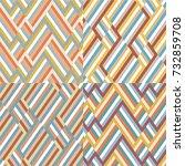 set of color block backgrounds. ... | Shutterstock .eps vector #732859708