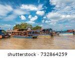 Fisherman's Boats On Tonle Sap...
