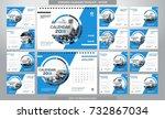 desk calendar 2018 template  ... | Shutterstock .eps vector #732867034