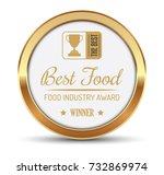 best food award badge   Shutterstock .eps vector #732869974