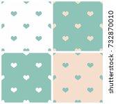 tile vector pattern set with... | Shutterstock .eps vector #732870010