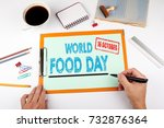 world food day 16 october.... | Shutterstock . vector #732876364