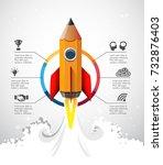 creative idea concept   pencil... | Shutterstock .eps vector #732876403
