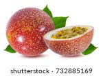 passion fruit isolated on the... | Shutterstock . vector #732885169