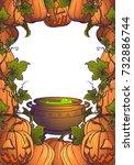 halloween pumpkins  jack o... | Shutterstock .eps vector #732886744