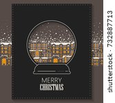 vector concept of christmas... | Shutterstock .eps vector #732887713