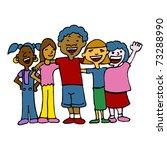 an image of a children of... | Shutterstock .eps vector #73288990