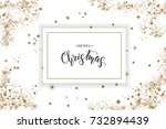 christmas poster with hand made ... | Shutterstock .eps vector #732894439