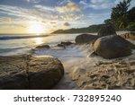 Sunrise Over Granite Rocks ...