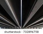 car bridge  bottom view  bridge ... | Shutterstock . vector #732896758