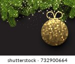 new year background with spruce ... | Shutterstock .eps vector #732900664