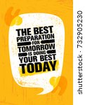 the best preparation for... | Shutterstock .eps vector #732905230