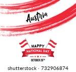 elegant greetings for national... | Shutterstock .eps vector #732906874