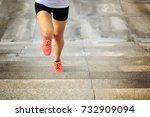 young fitness sport woman... | Shutterstock . vector #732909094