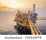 offshore control production and ... | Shutterstock . vector #732910978