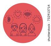 social network design | Shutterstock .eps vector #732913714