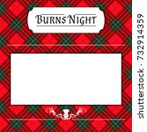 burns night card on tartan... | Shutterstock .eps vector #732914359