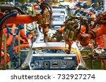 automobile production arm... | Shutterstock . vector #732927274