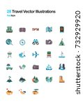 travel flat vector illustrations | Shutterstock .eps vector #732929920
