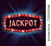 shining retro sign jackpot... | Shutterstock .eps vector #732933568