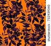watercolor seamless pattern...   Shutterstock . vector #732939340