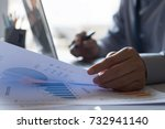 business man working holding... | Shutterstock . vector #732941140