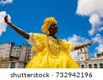 brazilian woman of african... | Shutterstock . vector #732942196