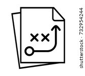 strategic planning icon | Shutterstock .eps vector #732954244