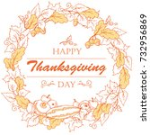 thanksgiving day poster with... | Shutterstock .eps vector #732956869