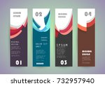 vector vertical banner design | Shutterstock .eps vector #732957940