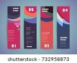 vector vertical banner design | Shutterstock .eps vector #732958873