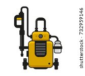 high pressure washer. car wash... | Shutterstock .eps vector #732959146