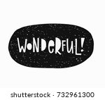 wonderful sticker quote... | Shutterstock .eps vector #732961300