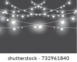 christmas lights isolated on... | Shutterstock .eps vector #732961840