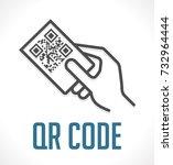 scan qr code concept | Shutterstock .eps vector #732964444