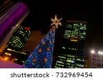 Big Christmas Tree And City...