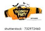 halloween party. vector... | Shutterstock .eps vector #732972460