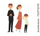 people of catholic religion in... | Shutterstock .eps vector #732976378