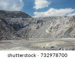relief limestone quarry and...   Shutterstock . vector #732978700