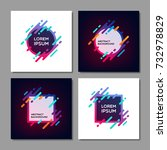 set of trendy abstract... | Shutterstock .eps vector #732978829