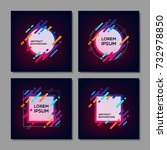 set of trendy abstract... | Shutterstock .eps vector #732978850