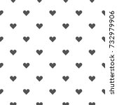Black Heart Seamless Pattern O...