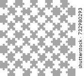 white gray puzzle background ... | Shutterstock .eps vector #732980293