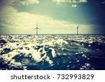 wind turbines generator farm...   Shutterstock . vector #732993829