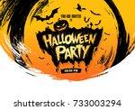 halloween party. vector... | Shutterstock .eps vector #733003294