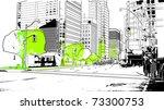 urban scenics   Shutterstock .eps vector #73300753